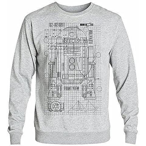 Inspired astromech R2, droid, droid-/ Blueprint di