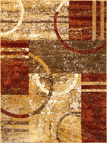 A2Z Tapis Contemporain Zone Tapis Moderne Mocha 1703 Tapis Home Decor, Moutarde, 160x230 cm - 5'3\