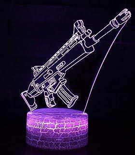 3D Illusion Nuit Lumière Win Y LED Bureau Table Lampe 7