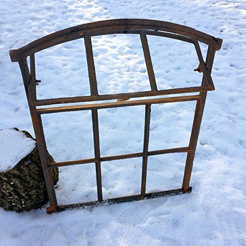 Antikas - Scheunenfenster zum Öffnen - Eisen Fenster Mauerruine - Eisenfenster Stall -
