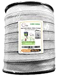 Tractor Factory Shire Electric Fence White Polly Tape 200m x 40mm x 8 Stainless Steel Strand New Low Wind Resistance Tape