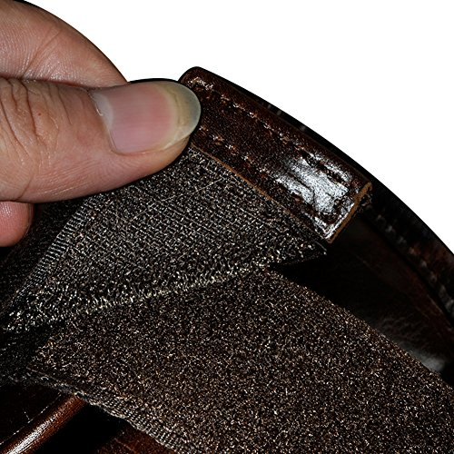 Genda 2Archer Cuero Genuino que Funciona la Bolsa del Brazo Bolso de la Célula de la Bolsa de las Llaves (9 cm * 3 cm * 16 cm) (Café)