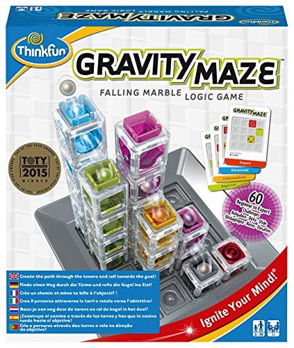 ThinkFun 76339 - Gravity Maze - Finde einen Weg durch die Türme und rolle die Kugel ins Ziel!