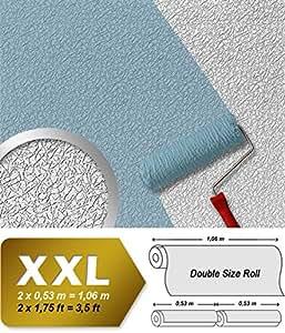 Papier peint non-tissé blanc à peindre EDEM 306-70 à relief aspect de tissu froissé 1 roul. 26,50 m2