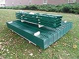 25m Zaunanlage Gartenzaun Zaun 1830mm Doppelstabmatten Verzinkt + Pulverbeschichtet
