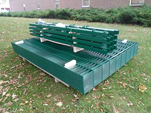 BBT@ / 20m Zaunanlage Gartenzaun Zaun 1830mm Doppelstabmatten Verzinkt + Pulverbeschichtet