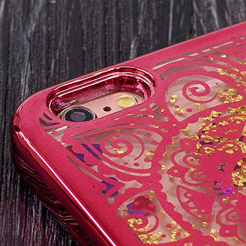 Souple TPU Étui pour iPhone 5 5S SE Clair Doux Silicone Gel Housse,Vandot Coque pour iphone 5 5S SE Transparent Coque Ultra Mince Case Cover pour iphone 5 5S SE [Conception de miroir de forme de coeur Placage-08