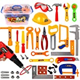 #4: Inditake 37Pcs Tool Set Toys for Kids, Pretend Play Emulational Repair Kit Toy Educational Tool Box