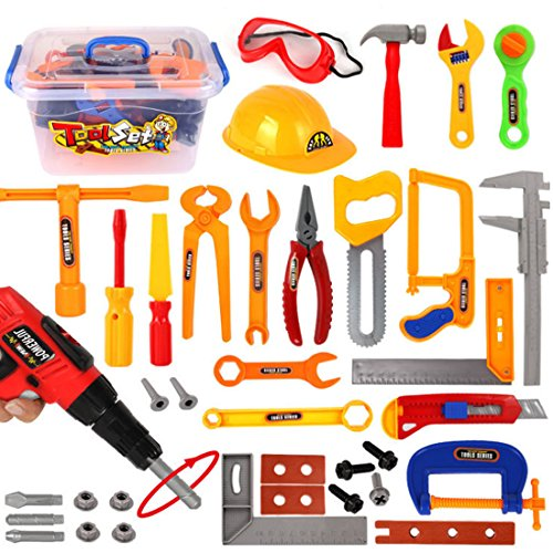 iVansa Werkzeug Spielzeug Set Spielwerkzeug mit Accessoires 37 Stücke Tool Set Kinder Rollenspiel ()