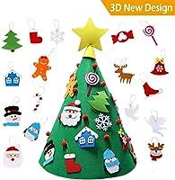 Easy Bravo 3D Arbol de Navidad de Fieltro, DIY Navidad Decoración Colgante Año Nuevo Regalo para Niños…