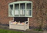 Keter Eden Bench Outdoor Storage Box Garden Furniture, 140 x 60 x 84 cm - Beige and Brown