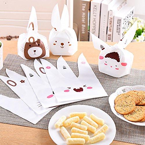 eksbeutel, Keksbeutel, Süßigkeitenbeutel, süße Hasenohren, Cartoon, Süßigkeiten, Dessert, Snacks, Kekse, Verpackung, Dekoration, Random Pattern ()