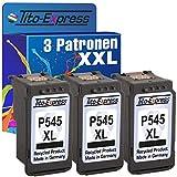 PlatinumSerie® 3 Patronen XXL für Canon PG-545 XL Black IP2850 MG2550 MG2500 Series MG2450 MG2400 Series MG2950 MG2455 MG2555 IP2800 Series MG2900 Series