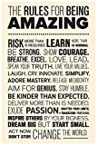 #4: Inephos The Rules For Being Amazing Quotes Poster | Motivational Posters For Offices (12 x 18 inch)