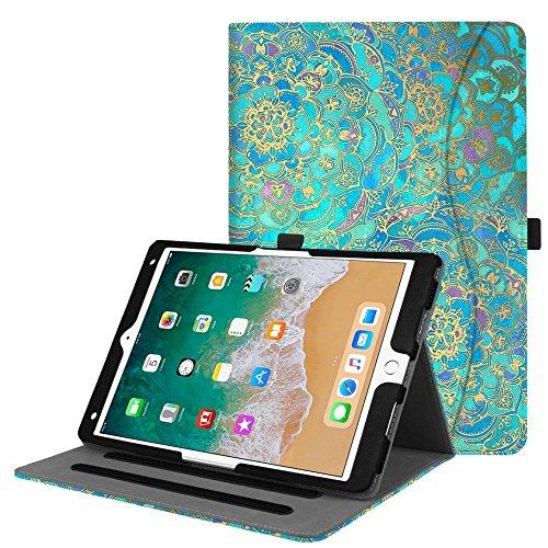 Fintie iPad Pro 10,5Fall-[Eckenschutz] verschiedenste Blickwinkel Folio Stand Cover mit Pocket, Automatische Sleep/Wake Funktion für Apple iPad Pro 26,7cm 2017Release Tablet ZB-Shades of Blue (Fintie Apple Ipad Folio Fall)