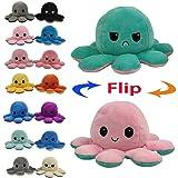 Juting Poupée Mignonne Poulpe Double Face Flip Octopus en Peluche, poupée d'animaux en Peluche réversible Douce Poulpe…
