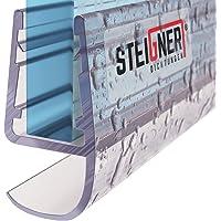 STEIGNER Duschdichtung, 200cm, Glasstärke 5/6/ 7/8 mm, Gerade PVC Ersatzdichtung für Dusche, UK15