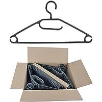 Centi Lot de 50 cintres rotatifs avec support pour cravate, ceinture, jupe Noir