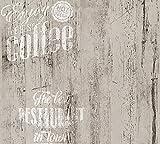 A.S. Creation Simply Decor Papier Tapete 334814 Holz Landhaus grau schwarz weiß