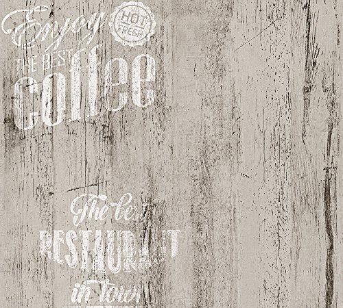 *A.S. Creation Simply Decor Papier Tapete 334814 Holz Landhaus grau schwarz weiß*