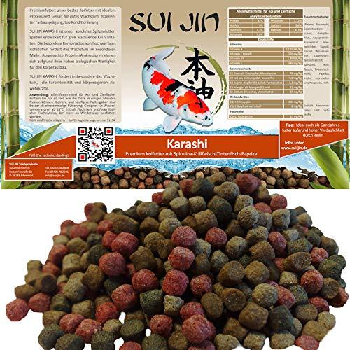 SUI JIN Teichprodukte 15kg(35L) Karashi Premium Koifutter 6mm - Premiumfutter, bestes Koifutter mit idealem Protein/Fett Gehalt