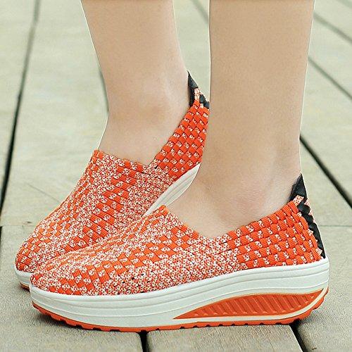 XiaoYouYu Fitness Shoes, Basses femme Orange