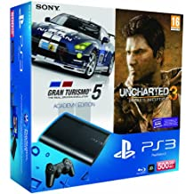 PlayStation 3 - Consola 500 GB  + GT5 Academy + Uncharted 3 - Edición Game Of The Year