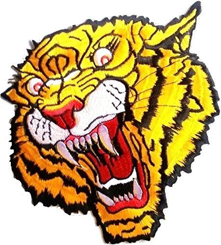 Toppa adesiva termoadesive toppa tigre grandi jeans stoffa cucito patch toppe termoadesive ricamate ricamata da cucire ' Tigre grandi 22 cm '