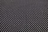Qualitativ hochwertiger Avalana Jersey Stoff mit grafischem Muster in Schwarz/Weiß als Meterware zum Nähen von Erwachsenen, Kinder und Baby Kleidung, 50 cm