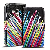 Verco Handyhülle Galaxy S3 Mini Muster, Motiv Hülle für Samsung Galaxy S3 Mini Book Case Flip Cover - Design 9