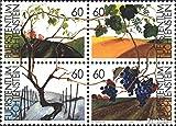Liechtenstein 1089-1092 bloc de quatre (complète.Edition.) oblitéré 1994 le vigne (Timbres pour les collectionneurs)