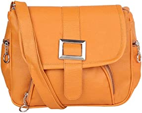 GulshanCollection Women Evening/Party, Casual PU Sling Bag With Front Buckle