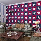 Wapel Fünf Spitzen Streifen Tapeten Umweltschutz Kinderzimmer Schlafzimmer Hintergrund Wand Rot Blau Und Weiß