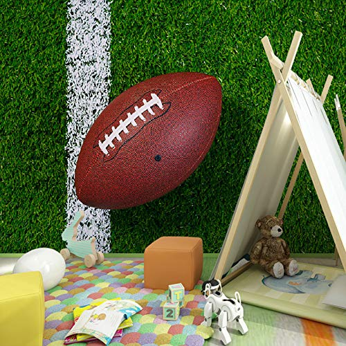 420 Rugby (BZDHWWH Kinderzimmer Wand Papier Kinder Schlafzimmer 3D Rugby Fototapete Wandbild Silk Wallpaper Für Weihnachten,420 Cm×250 Cm)