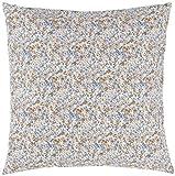 IB Laursen - Kissen, Kissenhülle, Zierkissen - Blaues Blumenmuster - 60 x 60 cm - 100% Baumwolle
