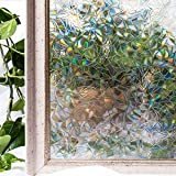 CottonColors Sin cola 3D vinilo pegatina translúcida adhesiva decorativa del vidrio de ventana autoadhesiva con Electricida Estática para el cristal de ventanal de baño cocina oficina Control de Calor y Anti UV 90cm*200cm,3Ft X 6.5Ft