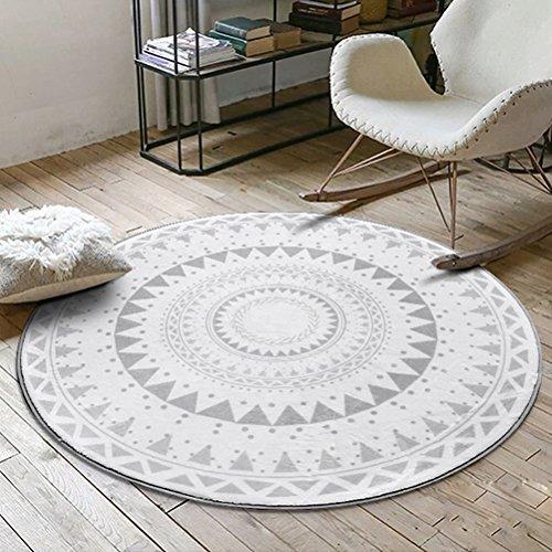 LUYIASI- Teppiche Mode Runde Couchtisch Schlafzimmer Wohnzimmer Swivel Matten Non-Slip Mat ( Farbe : B , größe : 120cm )