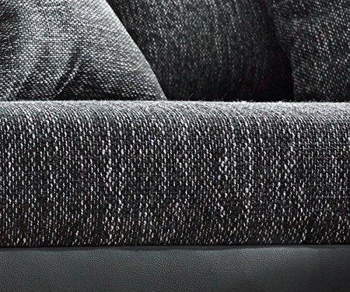 Couch Clovis Schwarz mit Hocker Wohnlandschaft Modulsofa - 2