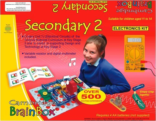 SECONDARY2 KIT - Electronics & Science Construction Kit - Includes over 500 Experiments - Educational Product - More than a Game or Toy - Aids Learning - Teaches Technology and is a stepping stone to the National Curriculum at Key Stages 3.