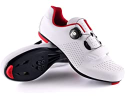 UPON HIKING Mens Road Cycling Shoes Spinning SPD Bike for Cleats Lightweight Breathable