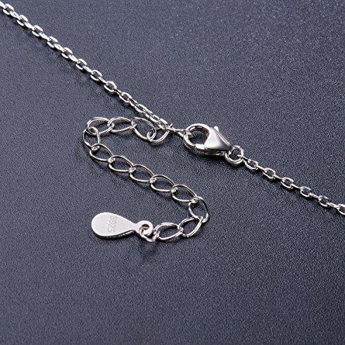 SWEETIEE-Collier en Pur Argent 925 Sterling femme,Pendentif deux coeurs entrelances micro pave zircon AAA,400mm Or rose