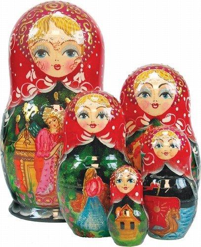 Doll Nesting Ornament (G. DeBrekht Scarlet Flower verschachtelt Puppe, 15,2cm)