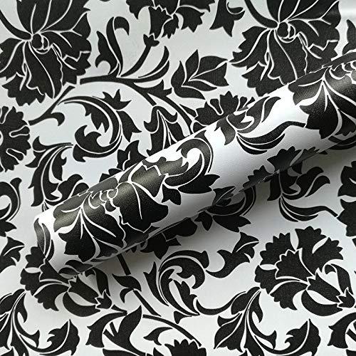 YIWAN Adesivi murali Rimovibili Adesivi Carta da Parati autoadesiva Impermeabile e Resistente all'olio Arte Camera da Letto Cucina Bagno Parete murale Strisce Bianche e Nere h1297