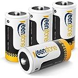 Keenstone 4st Uppladdningsbara LR14 C Batterier, 5000mAh 1,2V Ni-MH Baby C Uppladdningsbart Batteri 1200 Cykler Ultra Power o