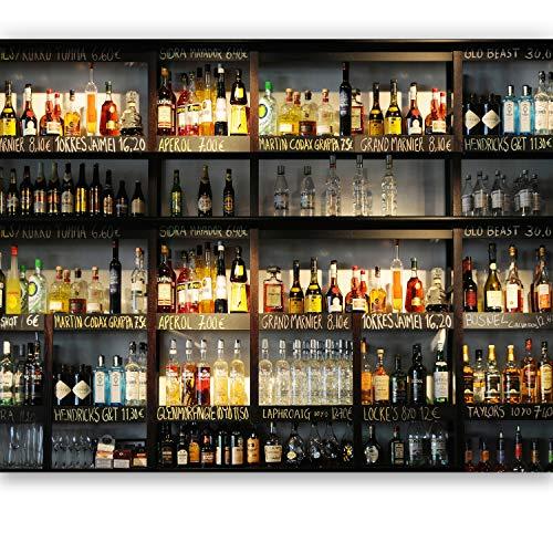 livingdecoration Fototapete Küche 183 x 127 cm Bar Cocktail Whiskey Cognac Regal Getränke Tapete inklusiv Kleister