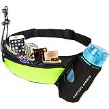 Guzack Löparbälte med vattenflaskhållare vattentät magväska cykling midjeväska joggingbälte midjeväska vätskebälte, svettsäke