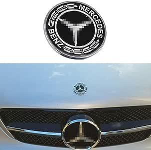 GULU 57MM Embl/ème Capot du Moteur Badge Logo Capot Ornement pour Class C//E//S//CLS