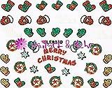 Selbstklebende Sticker mit Flitter #FL-31 ~~ funklend und farbenfroh ~~ WEIHNACHTEN, MERRY CHRISTMAS, FÄUSTLINGE, SOCKEN, STERNE