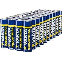 VARTA Industrial - Pilas alcalinas AA / LR6 / Mignon (pack de 40 unidades, 1.5 V)