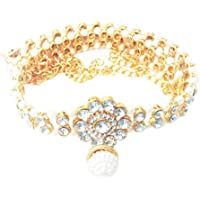 Project Luxe Beautiful Gold Plated Kamarband for Women and Girls - Waist Hip Belt with Crystal & Stone Work